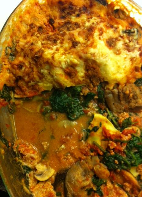 lasagne, koken, mislukt