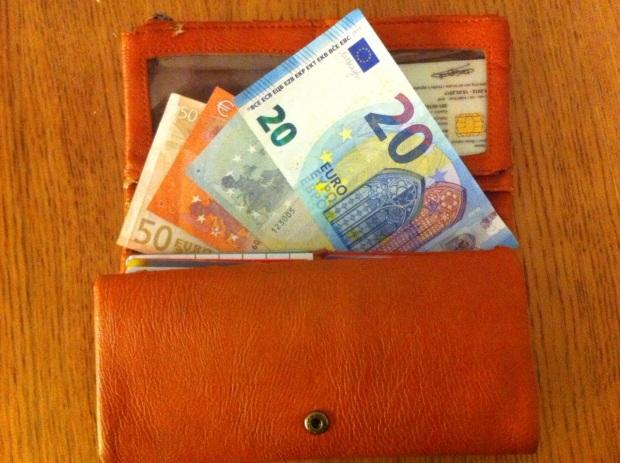 geld, portefeuille, cash