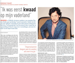 Thomas Smith, STRAK, Deze Week, Arenbergschouwburg